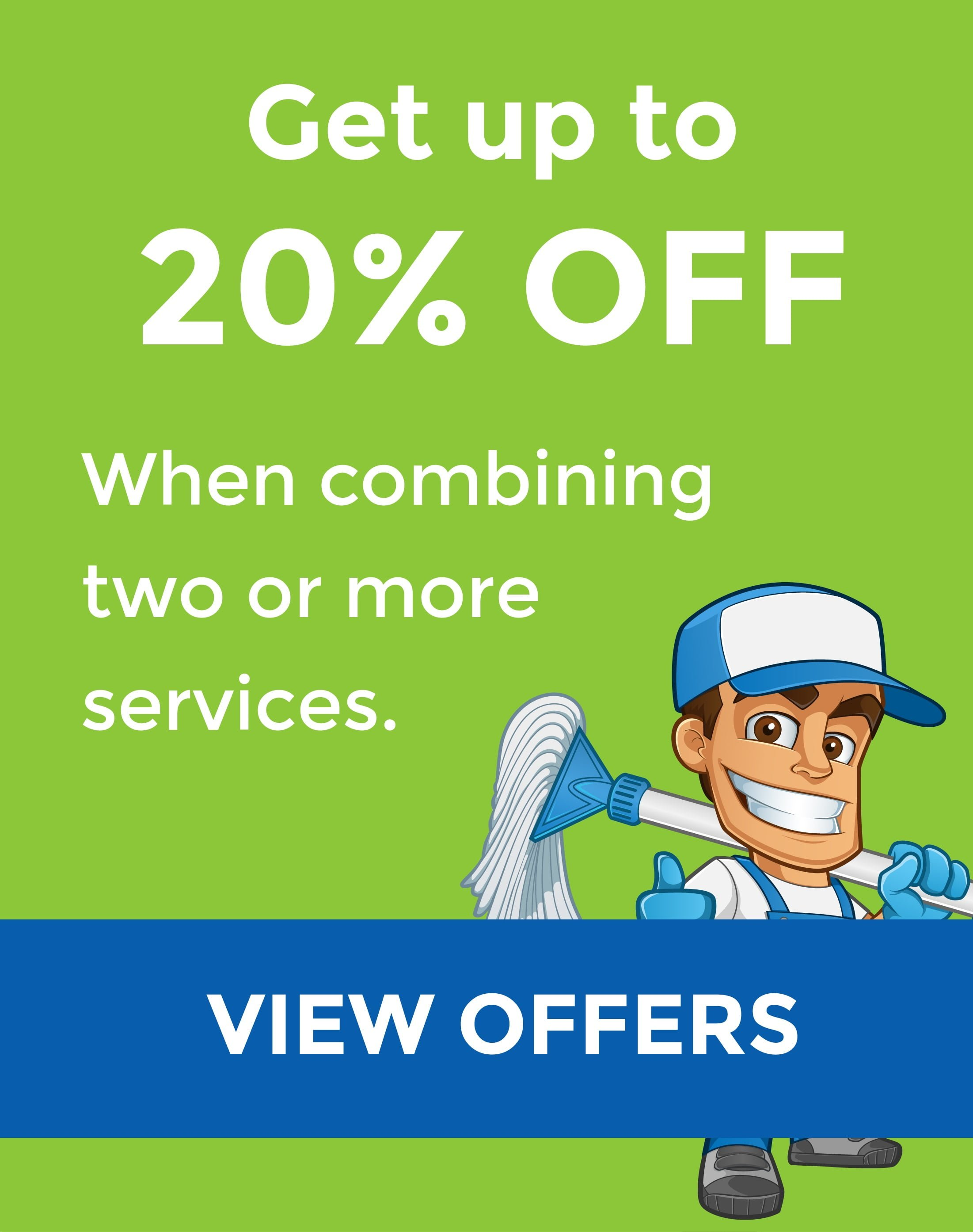 20% OFF Cleaning Services Offer
